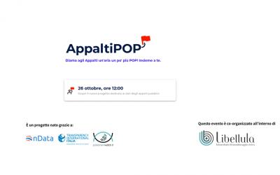 Il lancio di AppaltiPOP